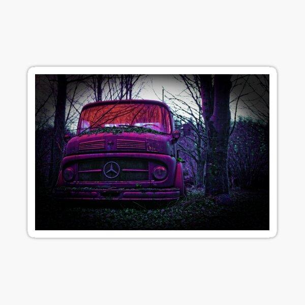 Old truck, pink vehicle Sticker
