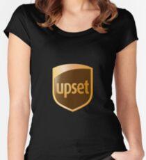 upset logo Women's Fitted Scoop T-Shirt
