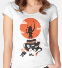 Samurai Sushi Women's Fitted Scoop T-Shirt