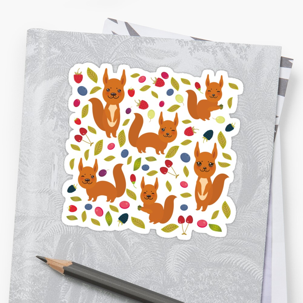 pattern with red squirrel by EkaterinaP