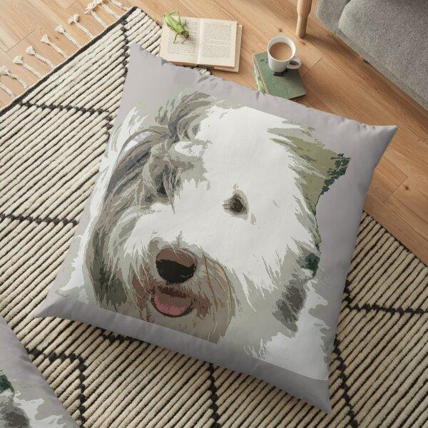 Old English Sheepdog Floor Pillow
