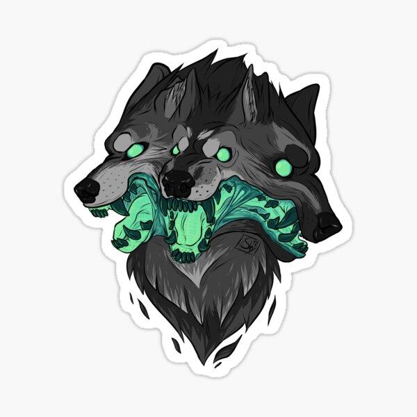 Weird Dog (Green) Sticker