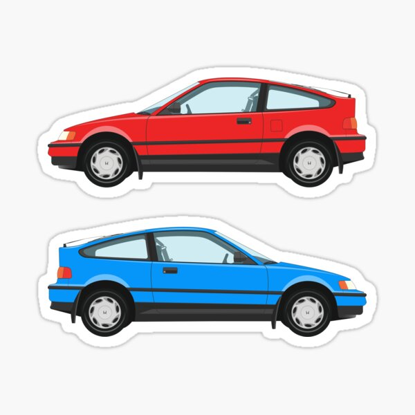 Honda Civic CR-X Two-fer Sticker