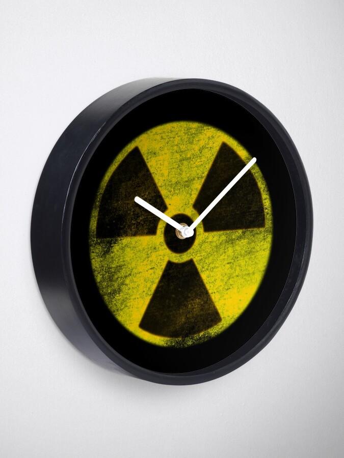 Alternate view of Hazard (Stencil) Clock