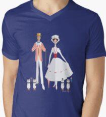 Lustiger Urlaub T-Shirt mit V-Ausschnitt für Männer