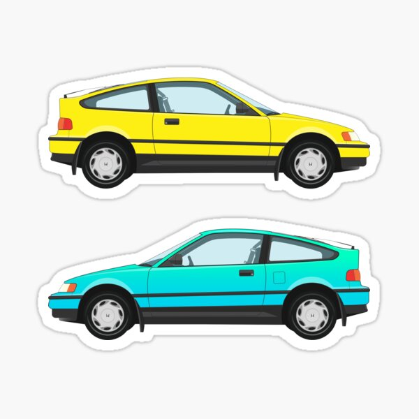 Honda Civic CR-X Two-fer (More colors!) Sticker