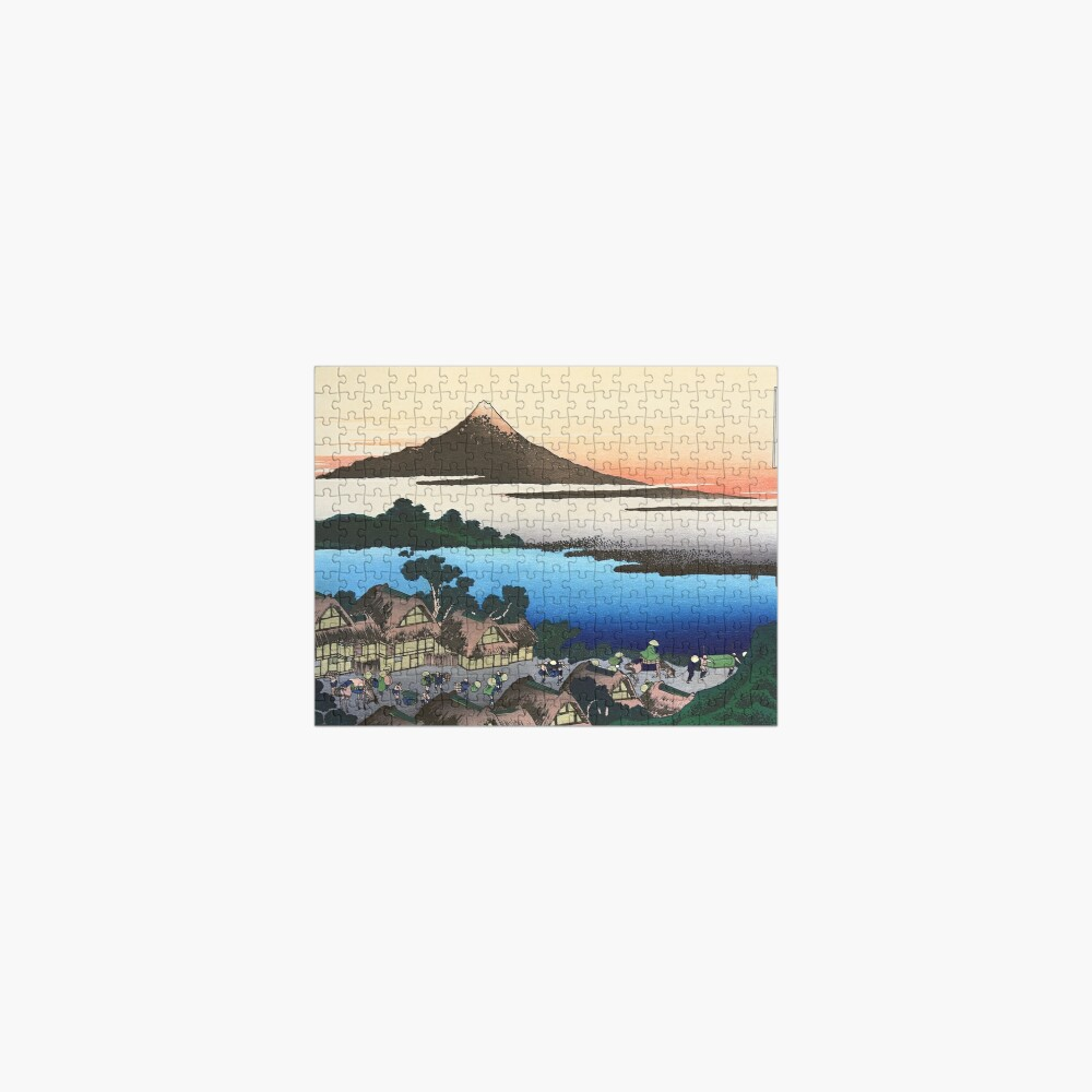 Dawn at Isawa in Kai Province by Katsushika Hokusai Jigsaw Puzzle