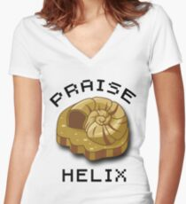 Praise Helix T-Shirt Women's Fitted V-Neck T-Shirt