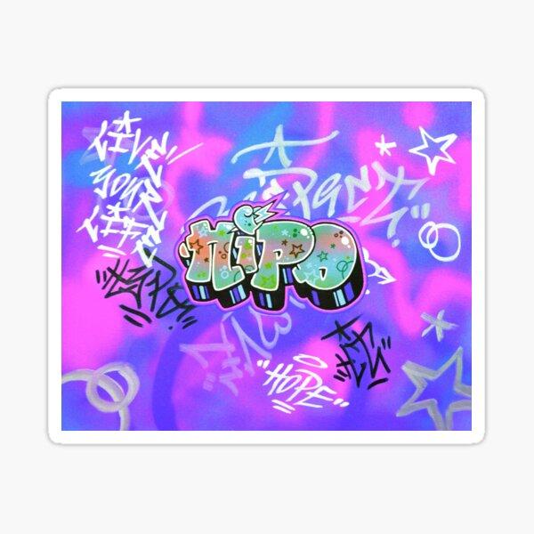 Live your life - Blue version Sticker