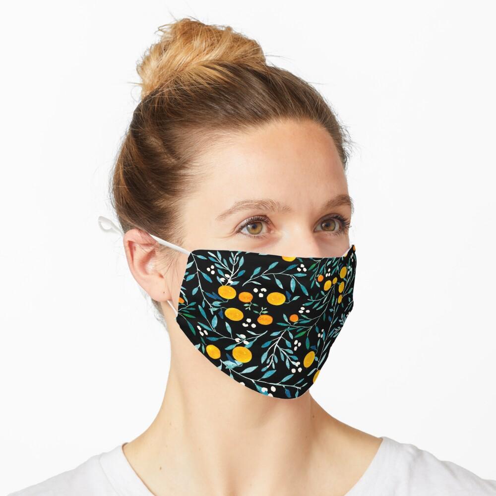 Oranges on Black Mask