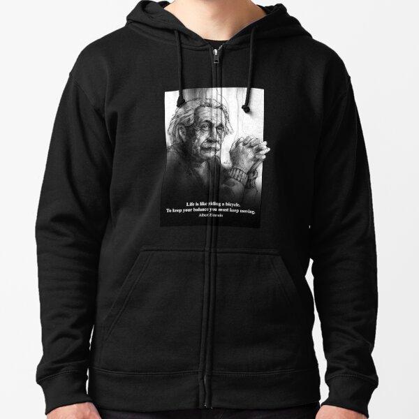 Albert Einstein Sudadera con capucha y cremallera