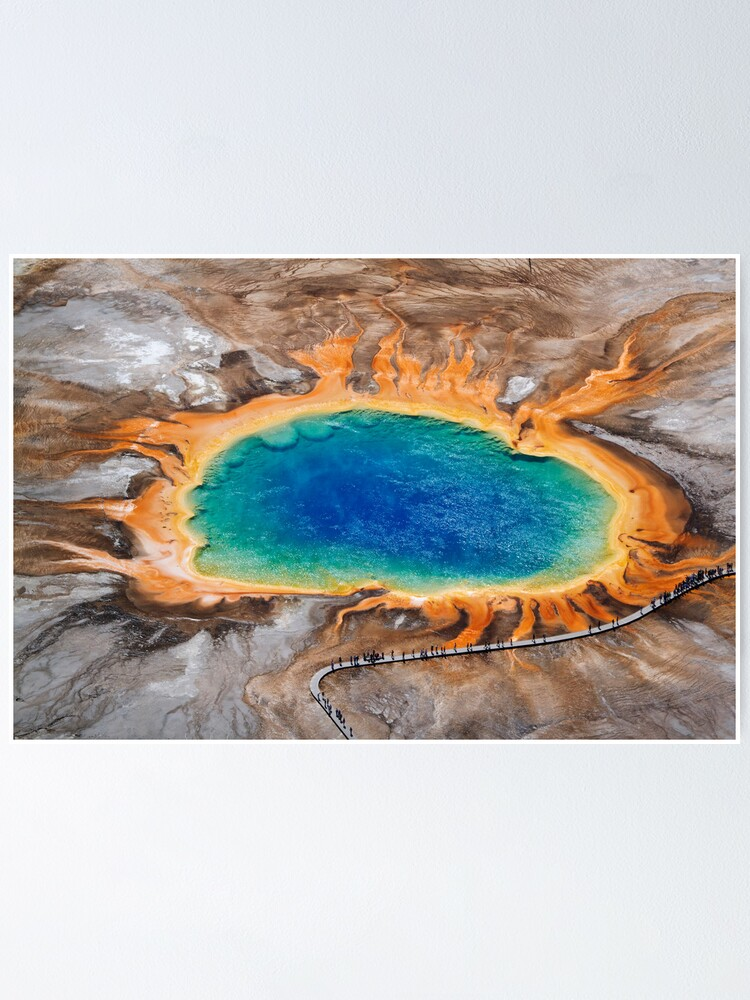 Alternate view of Grand Prismatic Spring - Aerial in Yellowstone Poster