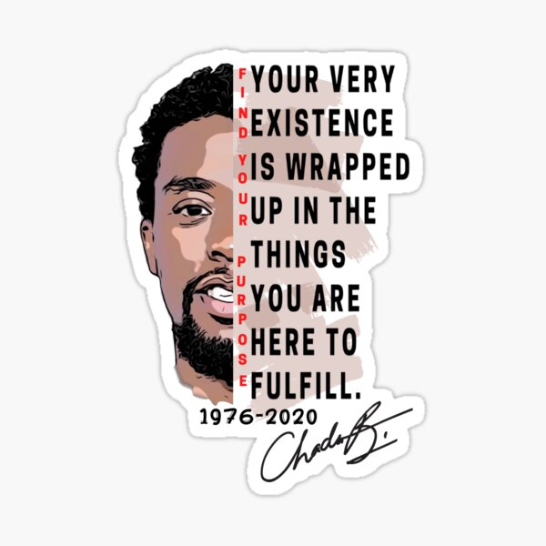 Chadwick Boseman | Find Your Purpose | red Sticker