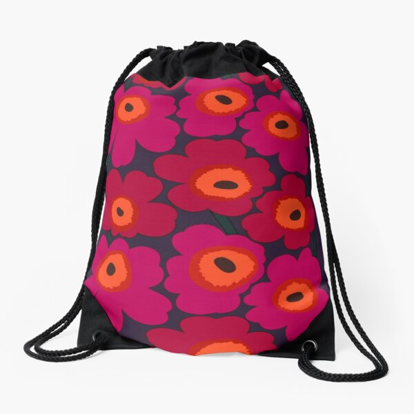 marimekko floral design  Drawstring Bag