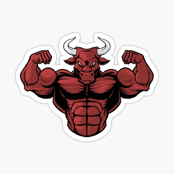 Red Strong Bull Sticker