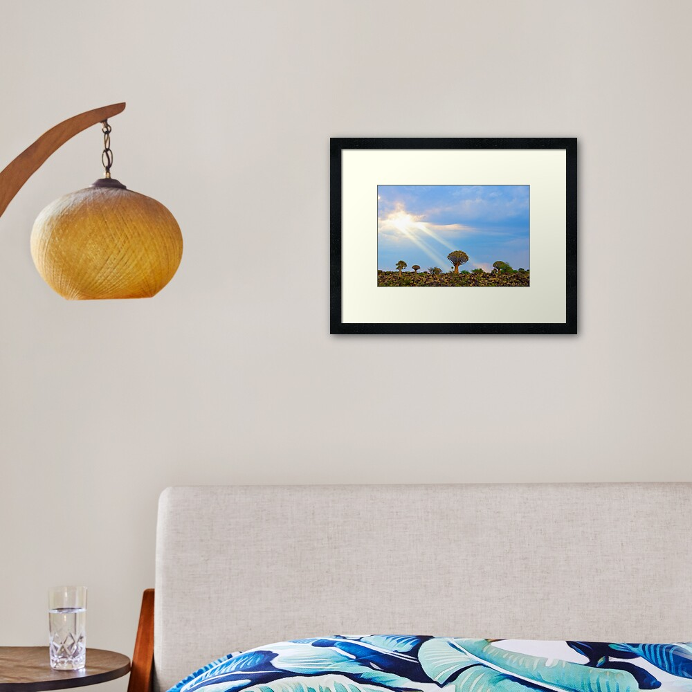 Quiver Tree Forest, Namibia, Africa Framed Art Print