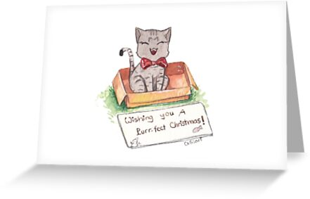 Cat in the box for your Christmas by clgtart