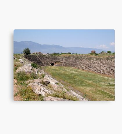 Aphrodisias Hellenic Stadium From The East Canvas Print