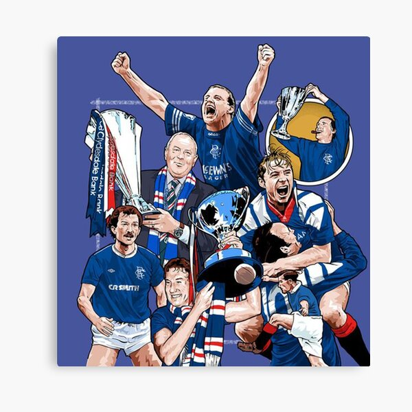 Glasgow Rangers Team Canvas Print