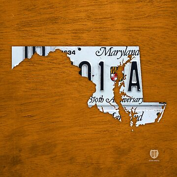 Maryland License Plate Map by designturnpike