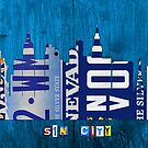 Las Vegas Skyline License Plate Art by designturnpike