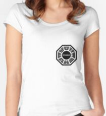 Dharma Initiative logo uniform Women's Fitted Scoop T-Shirt