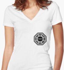 Dharma Initiative logo uniform Women's Fitted V-Neck T-Shirt