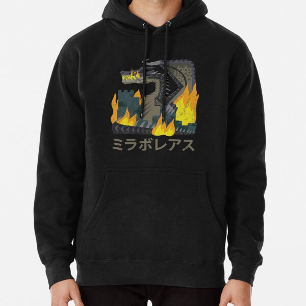 Monster Hunter World Iceborne Fatalis Kanji Icon Pullover Hoodie
