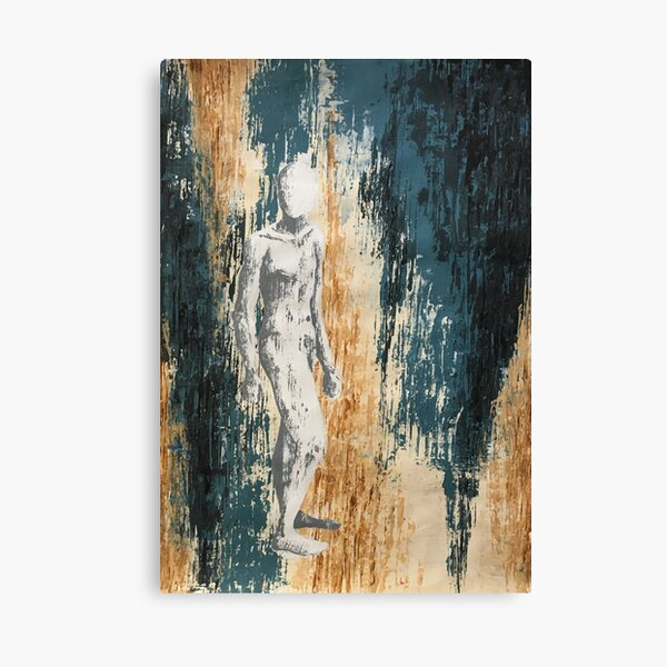 abstract pallet knife full body Canvas Print