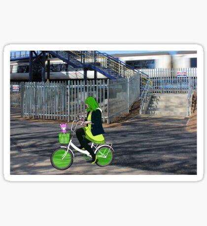 bike and bot Sticker