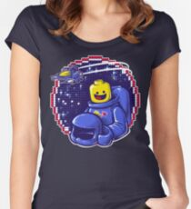 Portrait of a Space-Man Women's Fitted Scoop T-Shirt