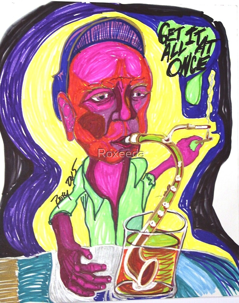 Get It All At Once Pipe Smoking Woman by Roxeeda