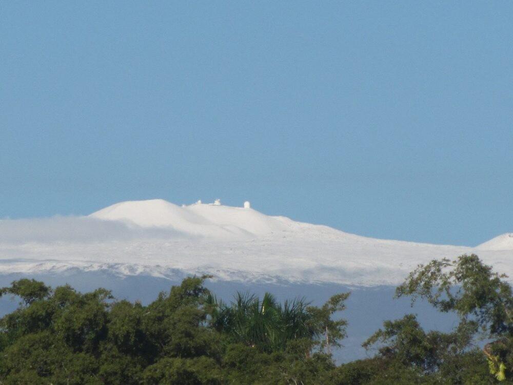 Mauna Kea Blanket of Snow by ronholiday