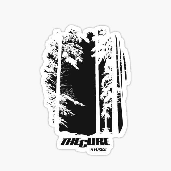 The Cure A Forest revers Sticker