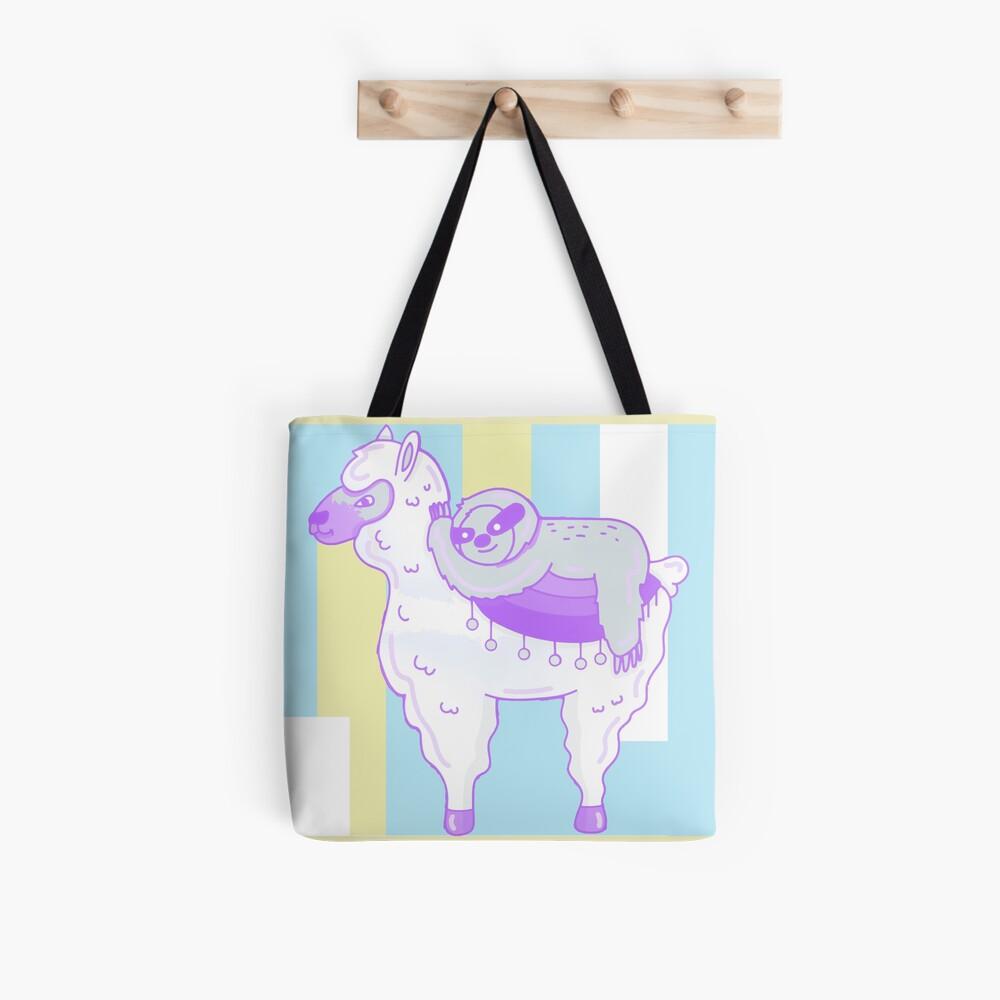 Alpaca & Sloth Best Friends Tote Bag