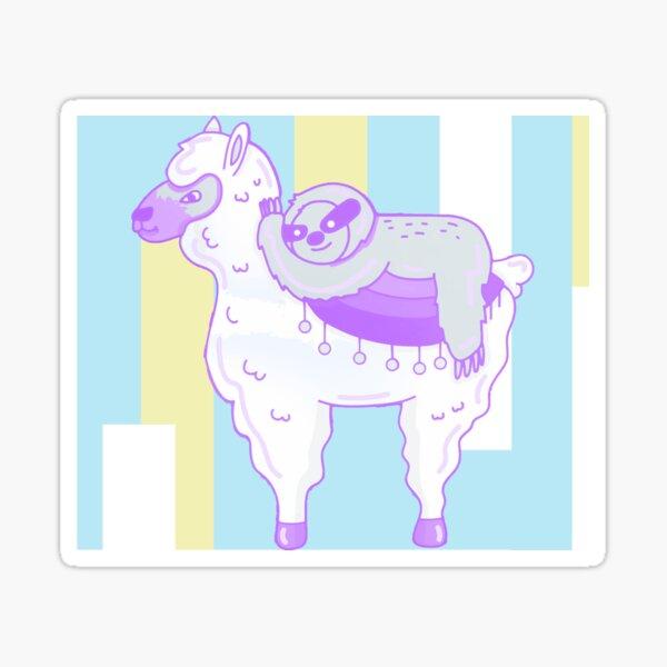 Alpaca & Sloth Best Friends Sticker