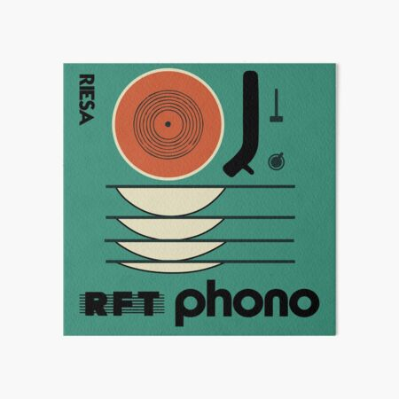 Vintage Vinyl Record German Matchbox Design Art Board Print