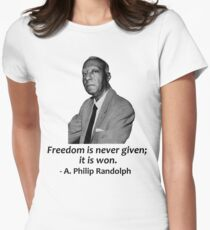A. Philip Randolph Women's Fitted T-Shirt