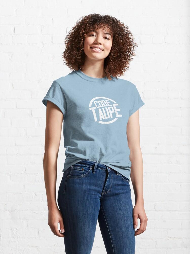 T-shirt classique ''Code Taupe - Au service de la France': autre vue