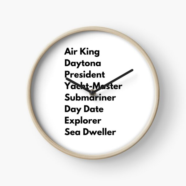 Rolex watch list Clock