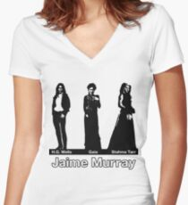 Jaime Murray characters - Warehouse 13, Spartacus, Defiance Women's Fitted V-Neck T-Shirt