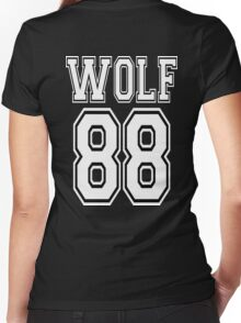 ♥♫I Love KPop-Awesome EXO WOLF 88♪♥ Women's Fitted V-Neck T-Shirt
