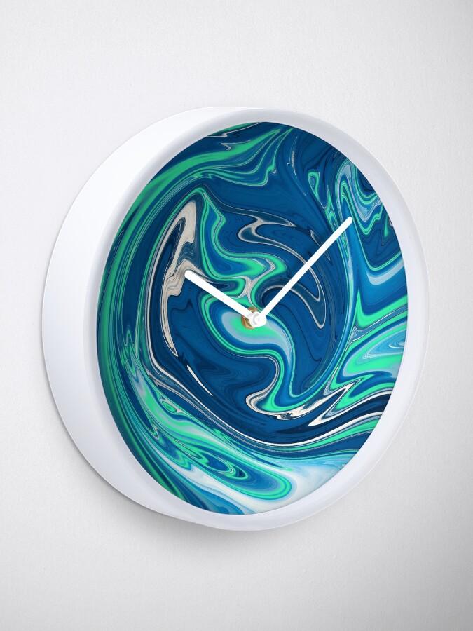 Alternate view of Liquid Paint Blue Clock