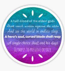 Percy Jackson Prophecy Sticker