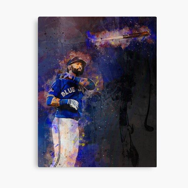 Bautista Jays Bat Flip Mixed Media Canvas Print