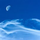 Moonship Over Boulder Colorado by Gregory J Summers