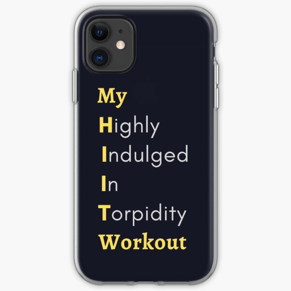 Funny HIIT Workout iPhone Soft Case