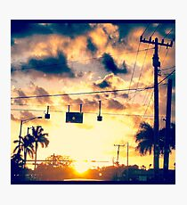 Red Light Sunset Photographic Print