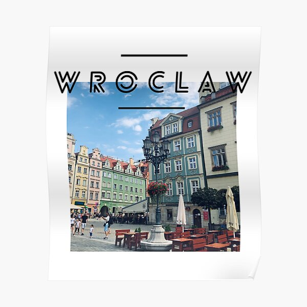 Wroclaw City Centre Poland  Poster