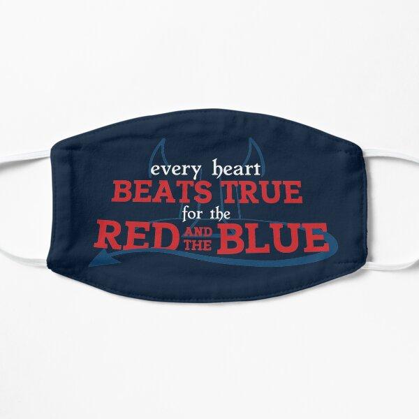 Chaque cœur bat vrai pour le rouge et le bleu Masque sans plis